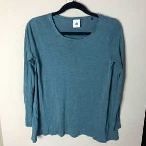Cabi blue long sleeve heathered swing top size XS
